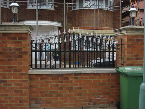 We make iron railings for walls and finish with decorative paintwork