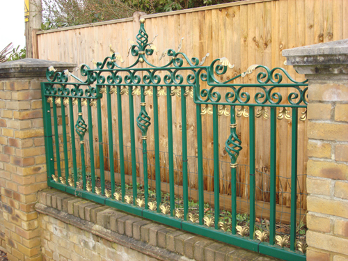 We can paint iron railings in the colour of your choice